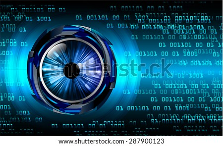 dark blue color Light Abstract Technology background for computer graphic website internet and business. circuit. vector illustration. infographics. wave. beam. ray. eye. eyeball
