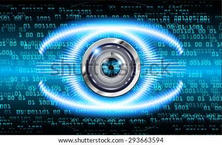 dark blue color Light Abstract Technology background for computer graphic website internet and business. circuit. vector illustration. wave. number. one. zero. infographics. eye. eyeball