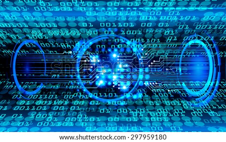dark blue color Light Abstract Technology background for computer graphic website internet and business. circuit. illustration.digital.infographics. binary code background. www.vector.motion move blur - stock vector