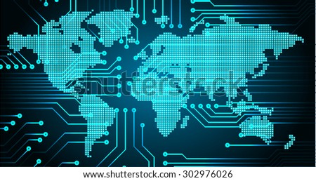 Dark blue color light abstract technology stock vector 302976026 dark blue color light abstract technology background for computer graphic website internet and businessrcuit sciox Image collections