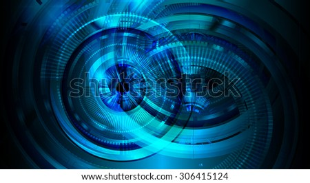 dark blue color Light Abstract Technology background for computer graphic website internet and business.circuit.vector illustration. abstract digital. infographics. motion move blur.neon. Gear. eye