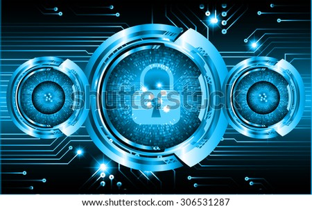 dark blue color Light Abstract Technology background for computer graphic website internet and business. circuit. vector illustration. infographics. motion move blur.neon. lock, key, Padlock
