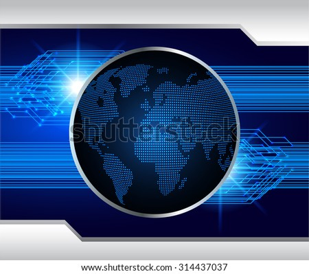 dark blue color Light Abstract Technology background for computer graphic website internet and business. circuit. vector illustration. abstract. infographics. motion move blur.neon.World Map, Global