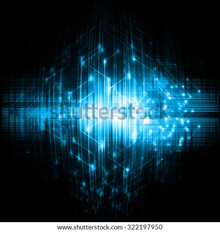 Dark blue color Light Abstract Technology background for computer graphic website internet and business. circuit. vector illustration. infographics. motion move blur.neon. pixel. wave - stock vector