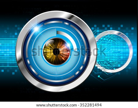 Dark blue color Light Abstract Technology background for computer graphic website internet and business. circuit. vector illustration. infographics. motion move blur.neon. pixel. eye