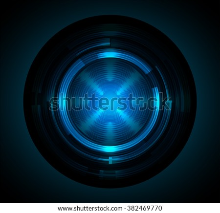 dark blue color Light Abstract Technology background for computer graphic website internet and business. circuit. illustration. digital. infographics. binary code background. eye scan. wave
