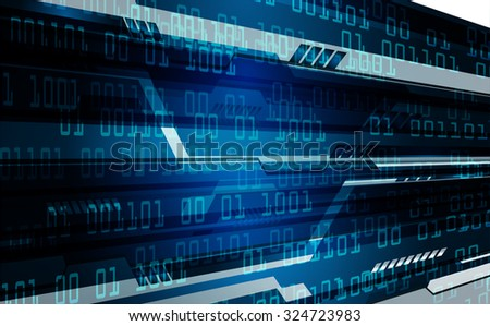 dark blue color Light Abstract Technology background for computer graphic website internet business. circuit. illustration. digital. infographics. binary code. www. vector.one. zero. aura ray