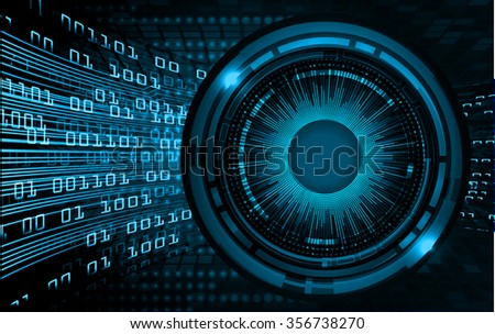 dark blue color Light Abstract Technology background for computer graphic website internet business.circuit.illustration.digital.infographics.binary code. www.vector.motion move blur eye - stock vector