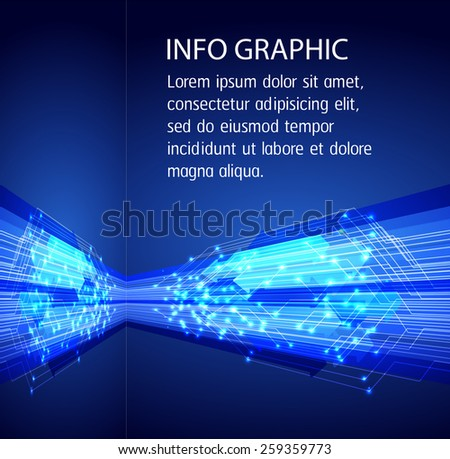 Dark blue color Light Abstract Technology background for computer graphic website internet. circuit. text box. card. label.