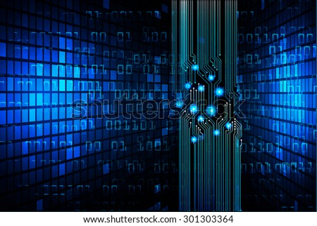 dark blue color Light Abstract Technology background for computer graphic website internet web. circuit. illustration. infographics. binary code background. www. vector. Spark. motion move blur.