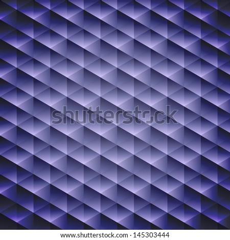 Dark blue geometric cubic background, vector illustration - stock vector