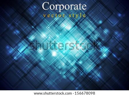Dark blue hi-tech vector background - stock vector