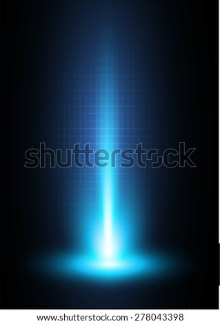 Dark Blue light Abstract background, rays. stage  - stock vector