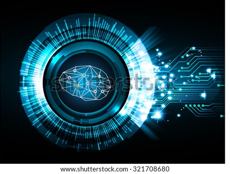 Dark blue Light Abstract Technology background for computer graphic website internet business. circuit. vector illustration. infographics. motion move blur.neon. Brainstorm, Brain. Bulb Ideas - stock vector