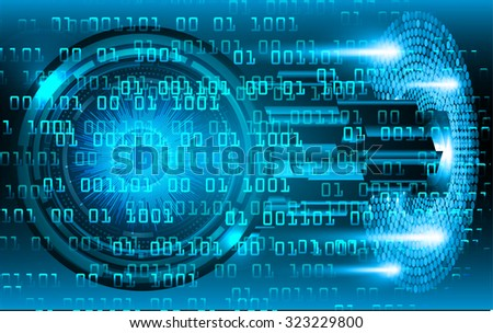 Dark blue Light Abstract Technology background for computer graphic website internet business. circuit. vector illustration. infographics. motion blur. neon. eye