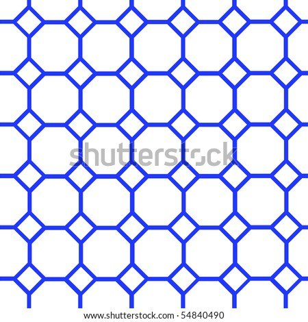 Dark blue on edges cells on the white background - stock vector