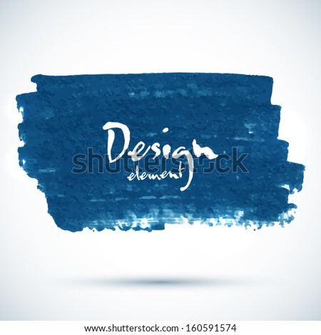 Dark blue paint vector stain with place for your text - stock vector
