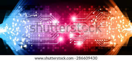 dark blue pink orange  Light Abstract Technology background for computer graphic website internet business.circuit. vector illustration. Security. infographics, Spark