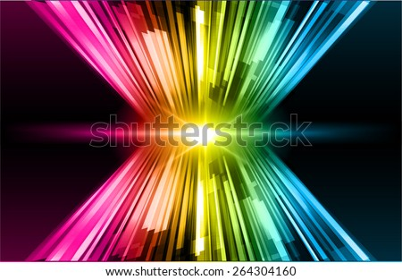 dark blue pink yellow color Light Abstract Technology background for computer graphic website internet and business. circuit. star - stock vector