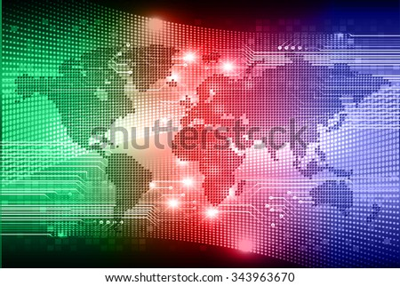 dark blue red green Light Abstract Technology background for computer graphic website internet business.circuit.illustration.digital.infographics.binary code. www.vector.motion move blur. World map