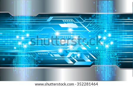 Dark blue silver Light Abstract Technology background for computer graphic website internet and business. circuit. vector illustration. infographics. motion move blur.neon. pixel. - stock vector