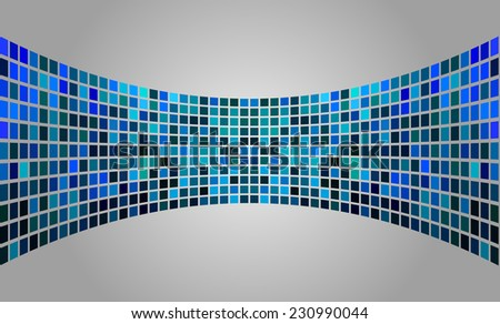 Dark blue silver Vector abstract design. pixels mosaic background computer graphic website and internet. - stock vector