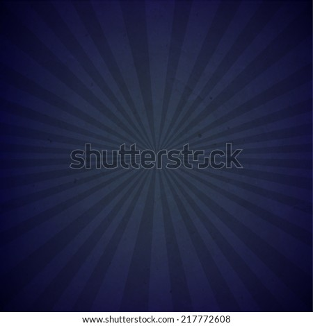 Dark Blue Sunburst Cardboard Paper With Gradient Mesh, Vector Illustration - stock vector
