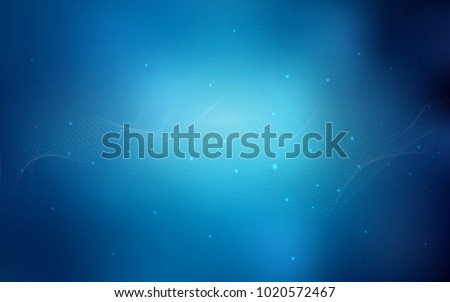 Dark BLUE vector background with bubbles. Blurred bubbles on abstract background with colorful gradient. The pattern can be used for aqua ad, booklets.
