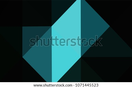 dark blue vector triangle mosaic template stock vector 1071445523