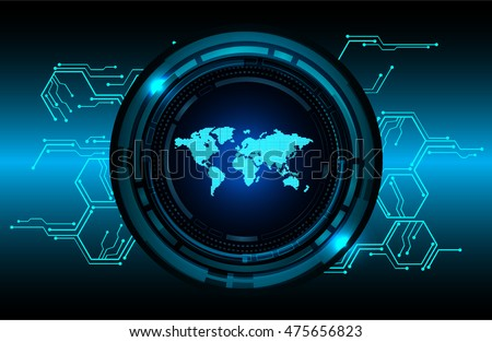 Dark blue world map light abstract vectores en stock 475656823 dark blue world map light abstract technology background for computer graphic website internet business circuit gumiabroncs Gallery