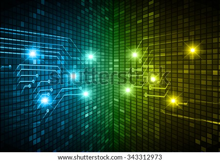 dark blue yellow Light Abstract Technology background for computer graphic website internet and business. circuit. illustration. digital. infographics. binary code background. www. vector.one. zero.