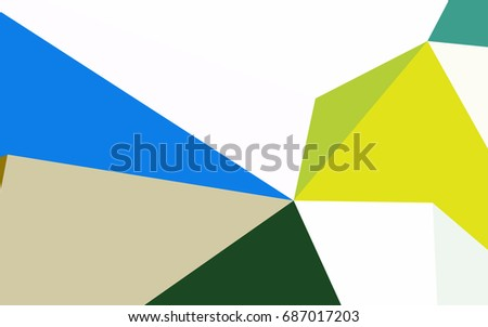 Dark Blue, Yellow vector abstract colorful background, which consist of triangles. Pattern with colored triangles on white background.