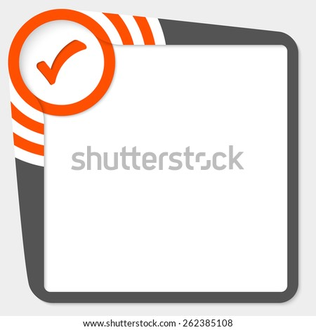 Dark box for your text and check box - stock vector