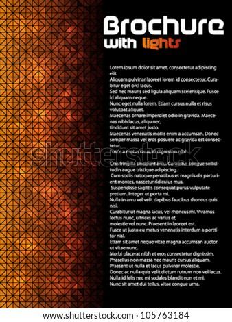 Dark brochure with lights - stock vector
