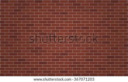 Dark Brown And Reddish Brick Wall Wallpaper Background Vector Illustration