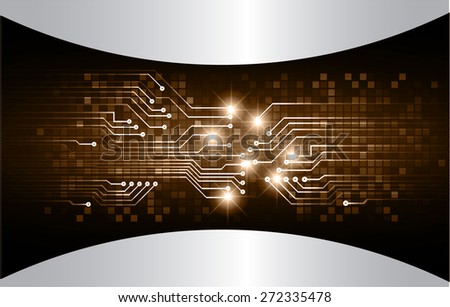 dark brown color Light Abstract Technology background for computer graphic website internet and business. circuit. vector illustration. abstract digital . silver. - stock vector