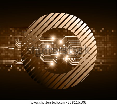 dark brown color Light Abstract Technology background for computer graphic website internet and business. circuit. vector illustration. abstract digital . infographics. Grid mesh table