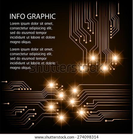dark brown Light Abstract Technology background for computer graphic website internet and business. circuit. illustration. infographics. text box. Brochure. card. banner flyer magazine. label.