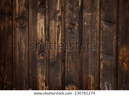 Dark brown wooden background vector - stock vector