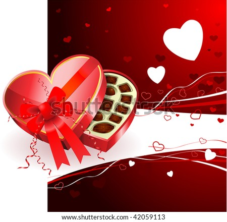 Dark Chocolates Valentine's Day background - stock vector