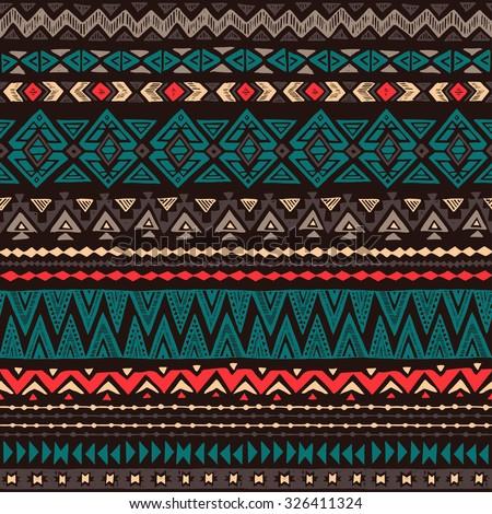 Aztec Patterns Background