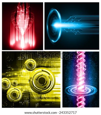 Dark colorful Light Abstract Technology background for computer graphic website internet. circuit.