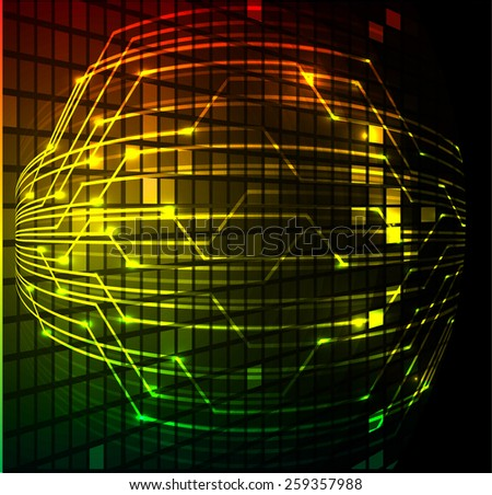 Dark colorful Light Abstract Technology background for computer graphic website internet. circuit