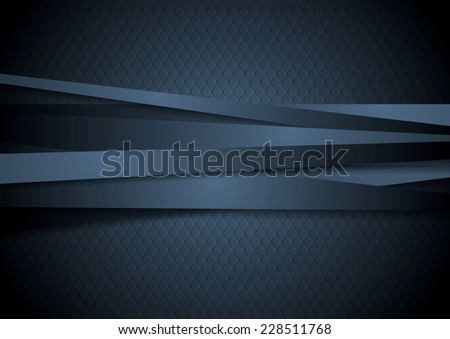 Dark corporate stripes background. Vector design - stock vector