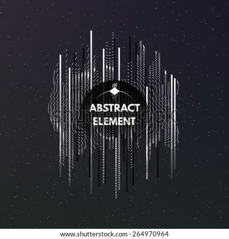 Dark cosmic background with ornament and stripes. Abstract art element. Vector Illustration EPS10. - stock vector