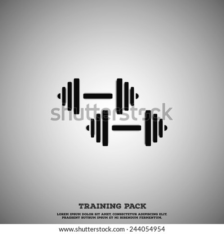 Dark Dumbell set.  - stock vector