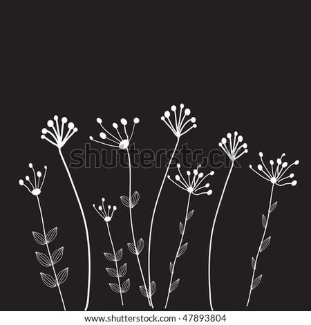 Dark flowers. - stock vector