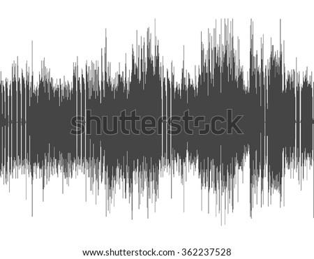 Dark gray abstract digital sound wave background. - stock vector