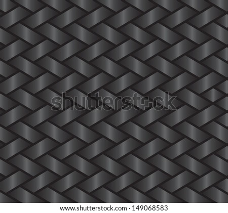dark gray background showing a ribbon or basket style weave