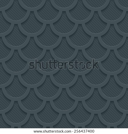 Dark gray 3D perforated paper with cut out effect. Editable EPS10. See others in my Perforated Paper Sets. - stock vector